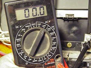 Vérification du courant électrique