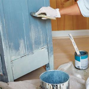 Peindre un meuble en bois le roi de la bricole - Peinture acrylique pour meuble ...